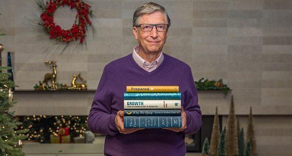 پنج کتاب مورد علاقه بیل گیتس در سال 2019